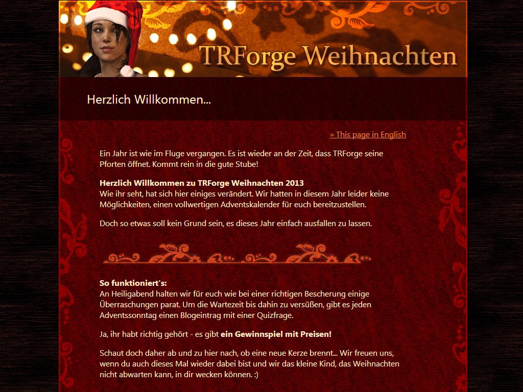 Der Adventskalender von TR Forge