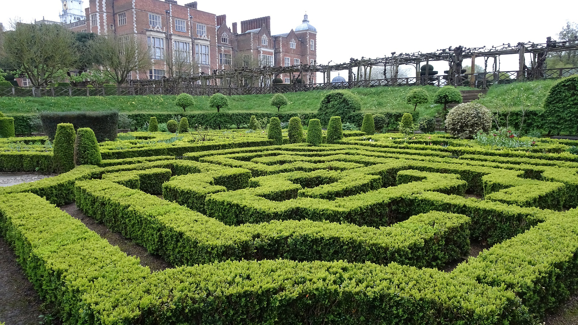 Labyrinth vor dem Hatfield House